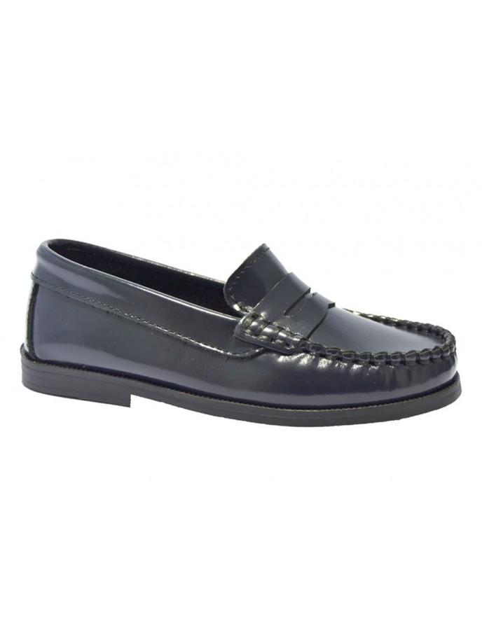 zapato castellano piel blandita marino