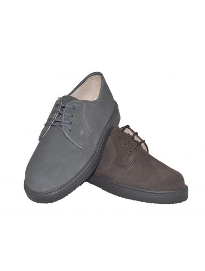 7301e3f04ff7b Zapato blucher clásico en serraje. Talla 32 Color CHOCOLATE