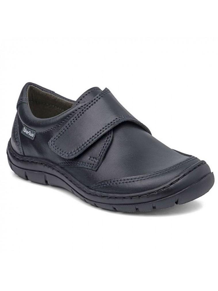 zapato colegial marca gorila en piel lavable modelo 31401 color negro