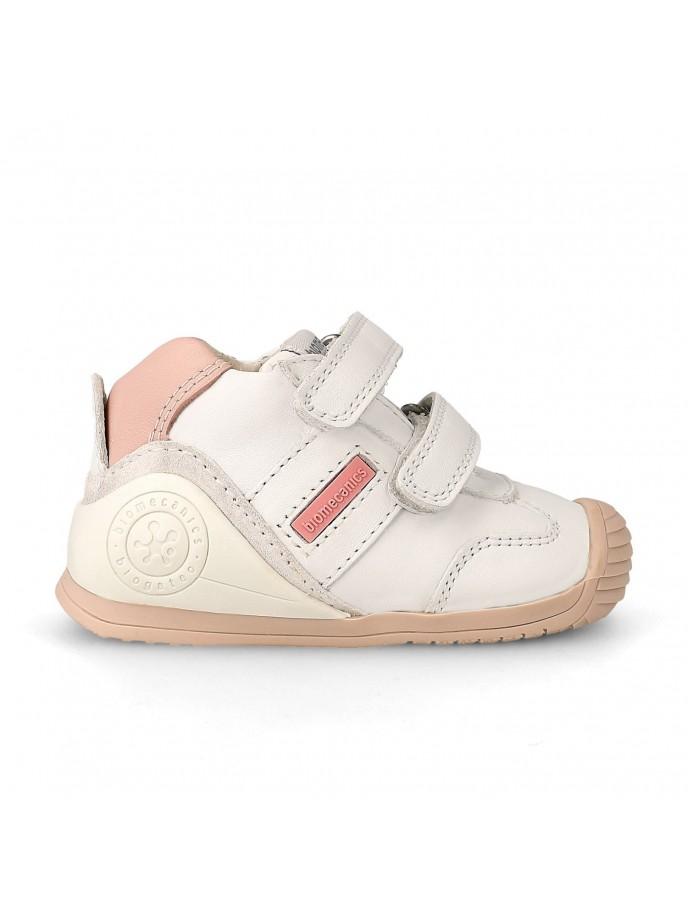 biogateo deportivo para bebés modelo 151157 LIA para los primeros pasos color blanco, blanco-rosa y blanco-azul