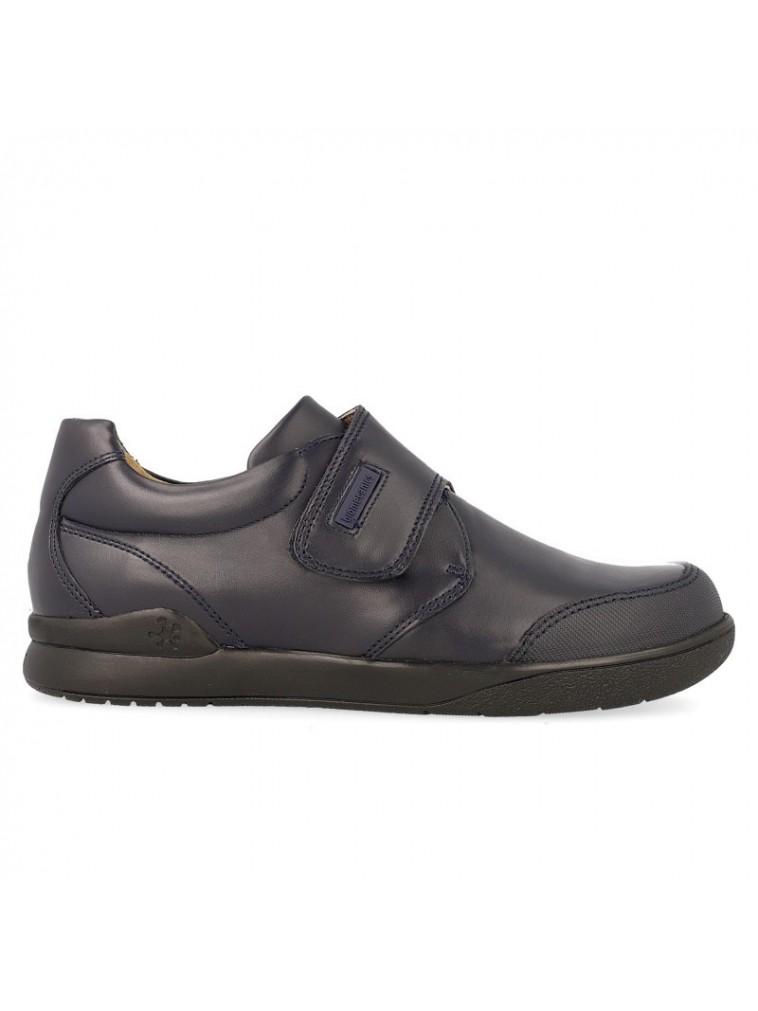 Zapato colegial niño biomecanics con velcro 161129 marino