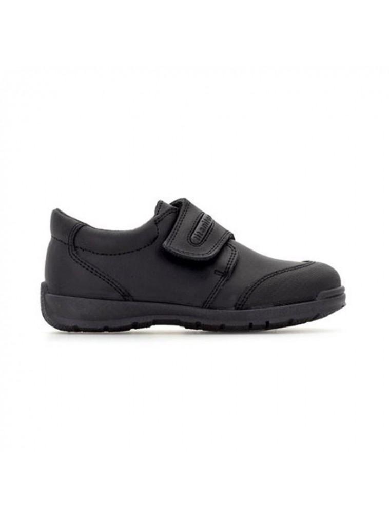 zapato colegial de niño zeus de titanitos color negro