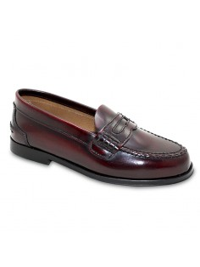 zapato castellano piel burdeos