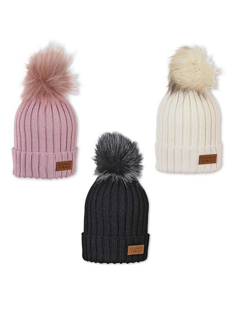 gorro en lana para ninos y adultos con pompom pelo sterntaler 4721924
