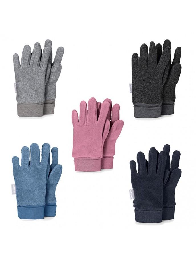 guantes tejido polar para niños sterntaler gris claro, gris oscuro, marino, azulon y rosa
