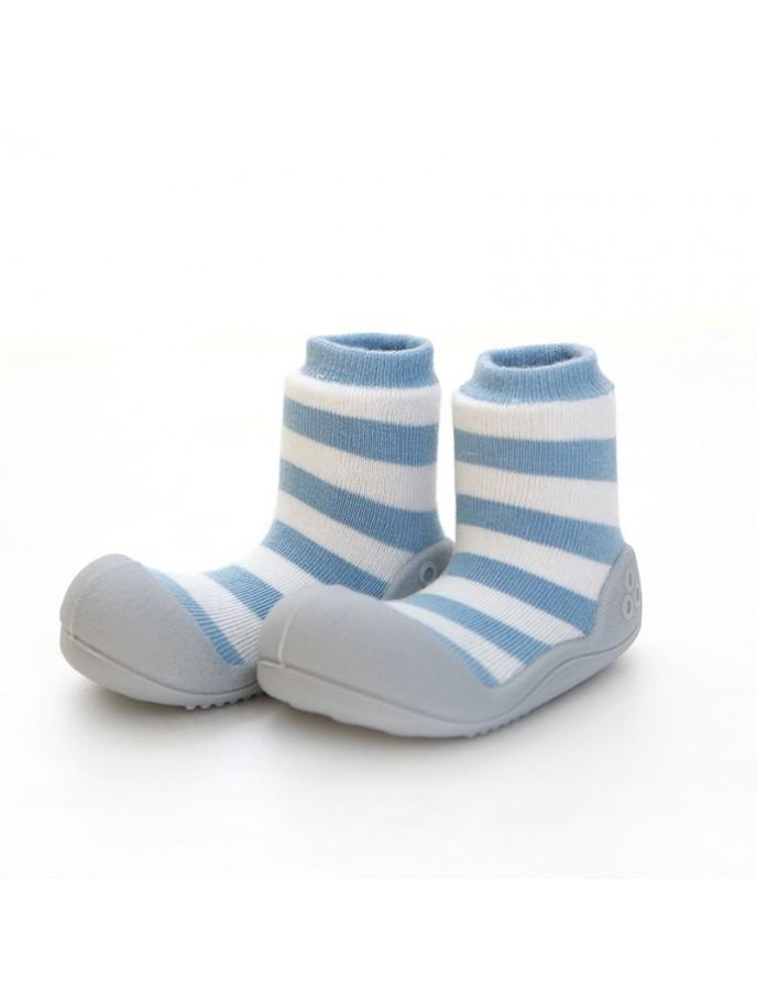 calcetin con suela attipas natural herb colores azul