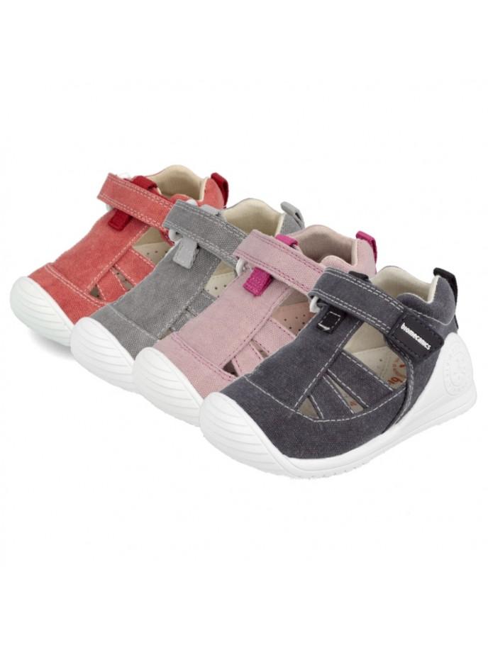 cangrejera lona para bebes biomecanics 202202 202211Belisa color rosa Azai color rojo, marino y gris