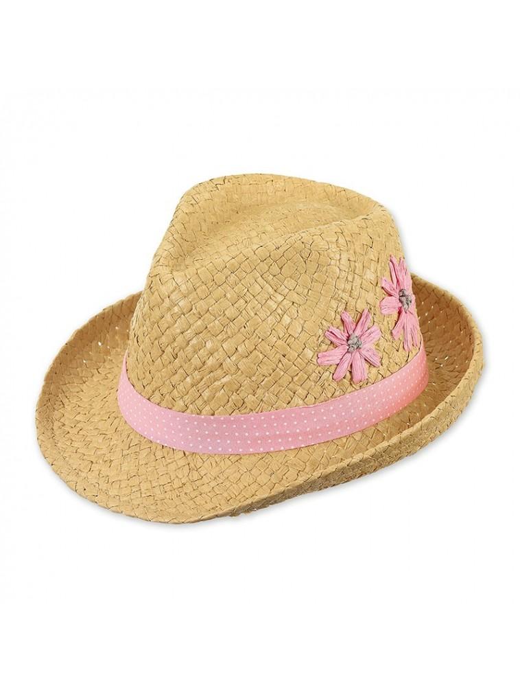 sombrero estilo paja de papel con flores modelo 1422081 de Sterntaler