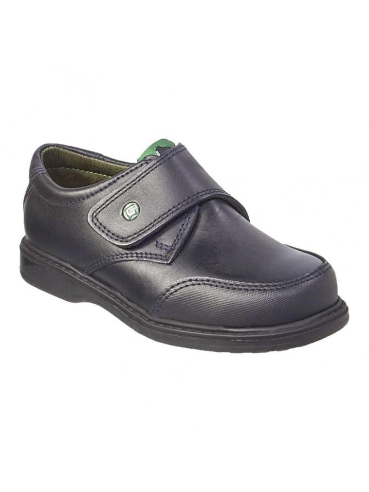 Zapato colegial de gorila con velcro y puntera reforzada marino