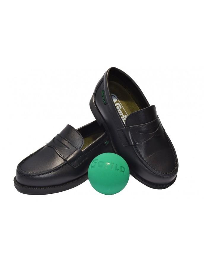 zapato colegial mocasin gorila modelo 1502 marino